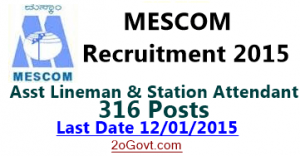 MESCOM-Recruitment-2015-Assistant-Lineman-Station-Attendant-316-Posts.
